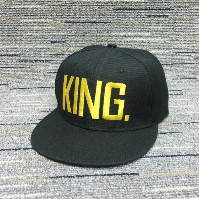 Les hommes et les femmes de la mode QUEEN - KING Basdeball Casquette Hip Hop Letter Imprim.photos Couple Casquettes hat023