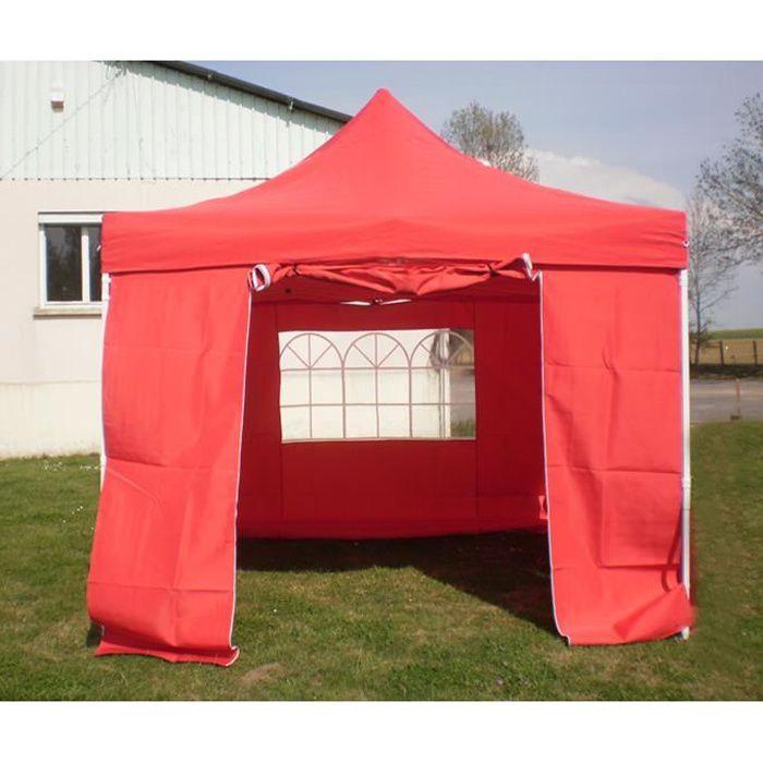 Barnum Pliant x3m Rouge + 4 côtés Tente Pliante