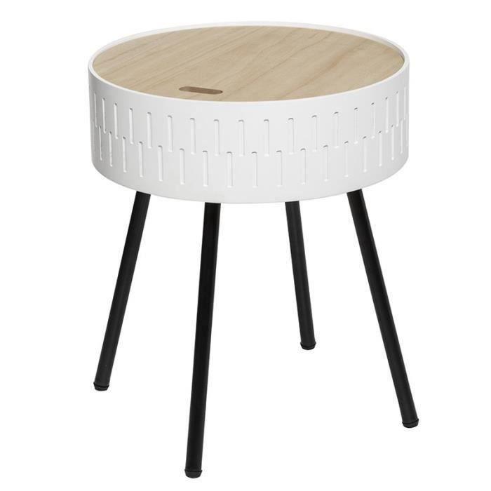 Table à café coffre Shiro blanc Autres Blanc