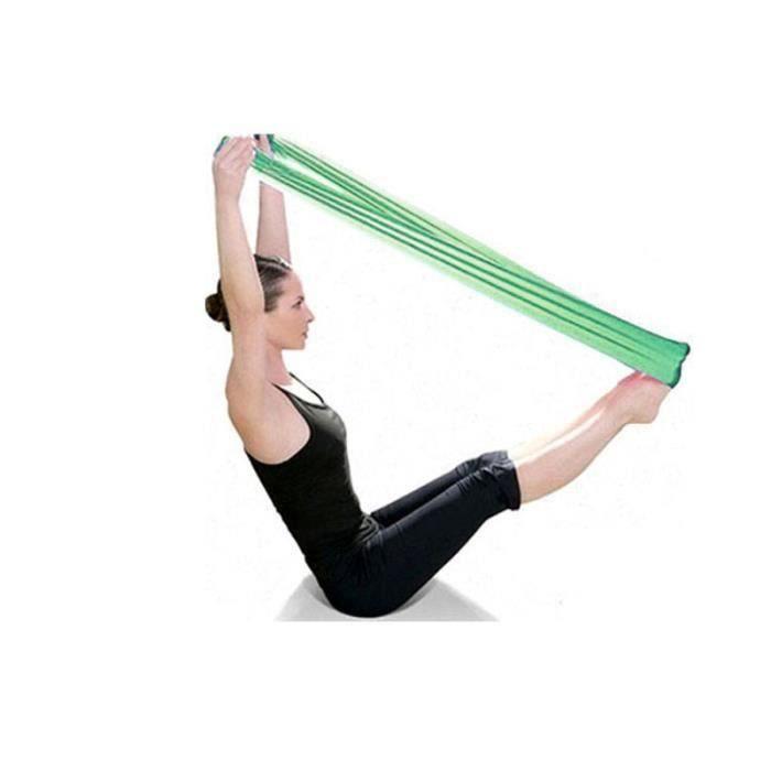 Pilates Yoga Workout Aérobic Bande élastique bande à bandes élastiques vert C69F2A