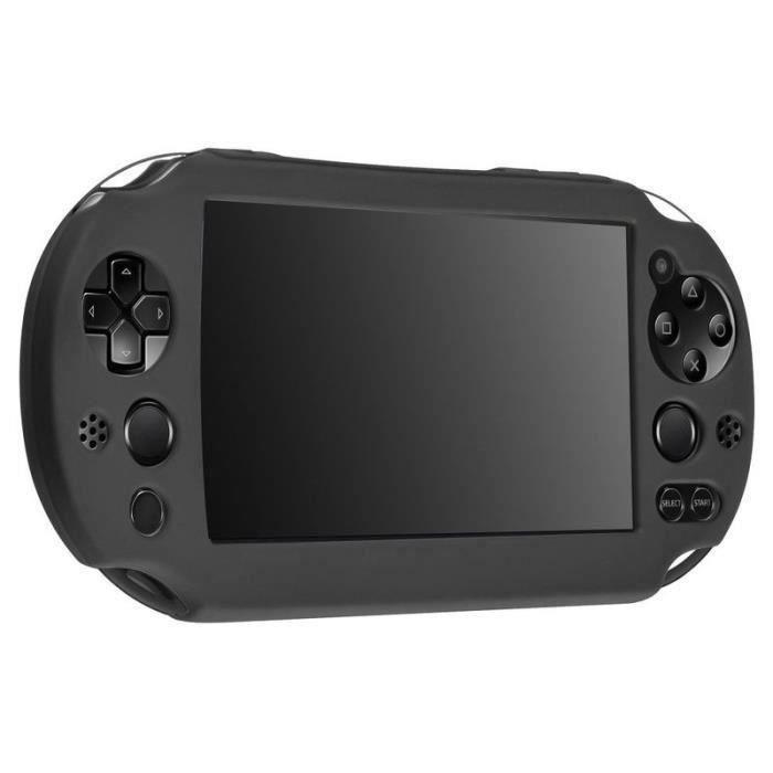 Housse étui Coque en Silicone Pour Console Sony Playstation PS Vita PSVita PCH-2000 séries,Noir bes14952