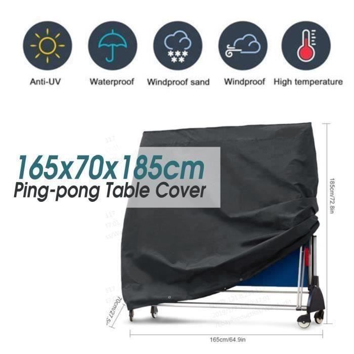Table de ping-pong Couverture En Tissu Oxford 165x70x185cm @KK