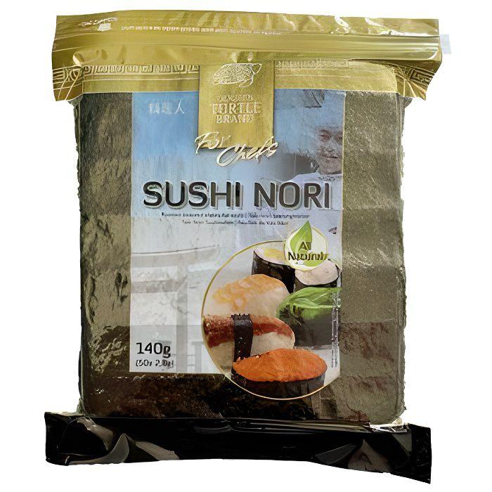 50 Feuilles sushi nori - qualité Chef - sachet 140g