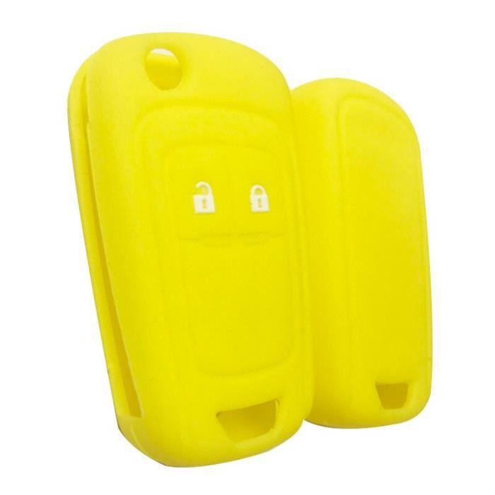 Coque clé,Clé à clé pour Opel Insignia Vauxhall En Silicone, etui à clé pour Buick Regal Lacrosse, Encore Excelle - Type yellow