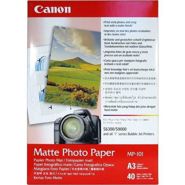 CANON Pack de 1 Papier photo matte 170g/m2 - MP-101 - A3 - 40 feuilles