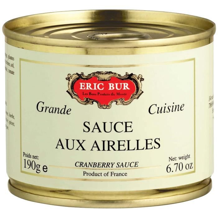 ERIC BUR Sauce aux Airelles 190g