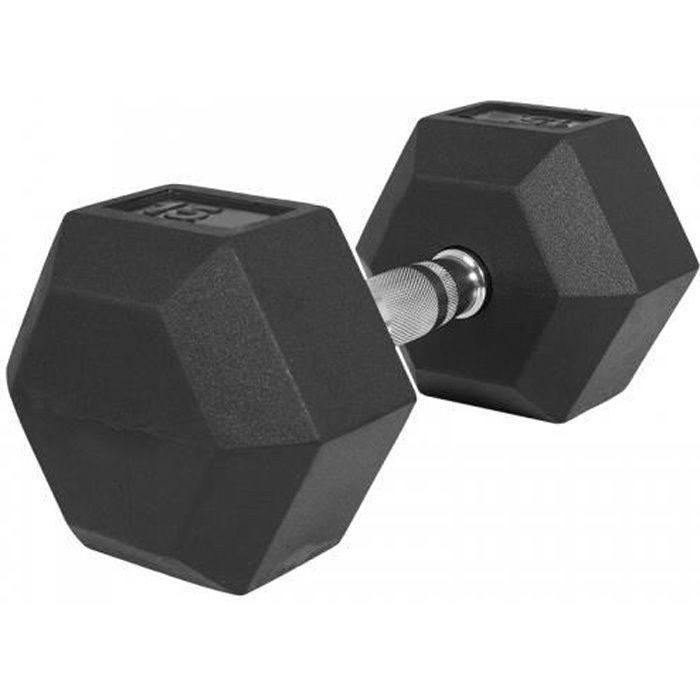 Haltère hexagonal de 15 KG