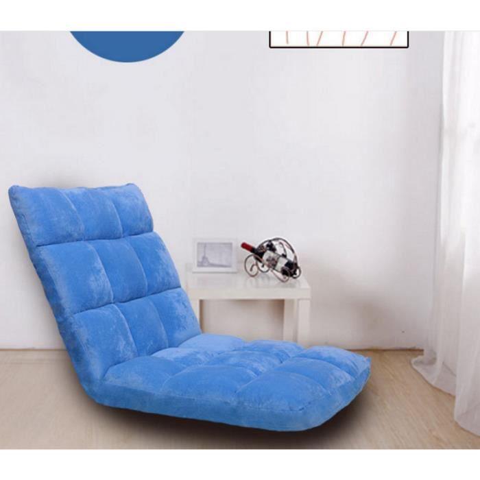 Pouf De Mode Tatami Pliant Unique Petit Canapé-lit Ordinateur Chaise étage Balcon Canapé 110*53*14 CM-bleu