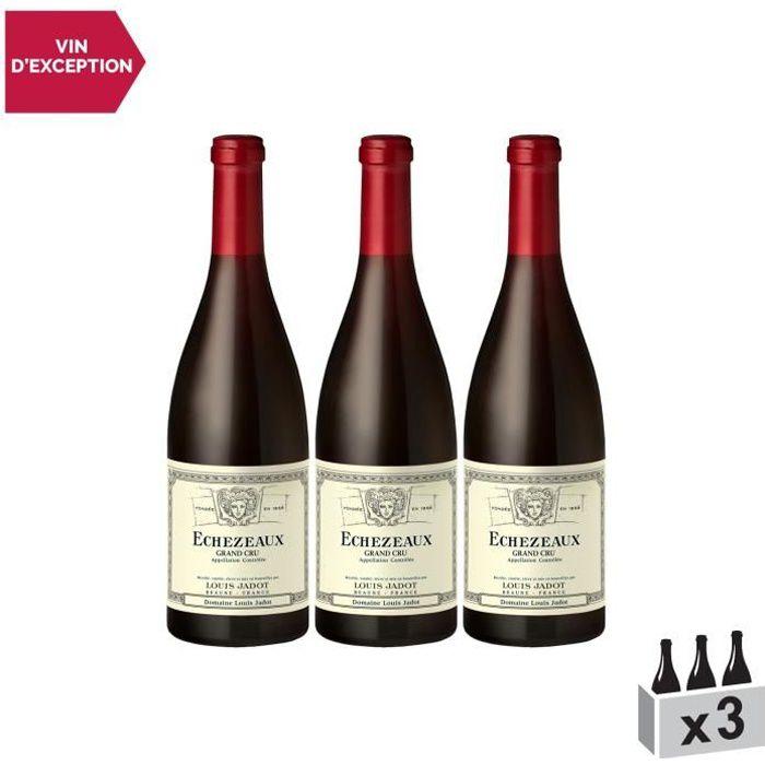 Echezeaux Rouge 2013 - Lot de 3x75cl - Louis Jadot - Vin AOC Rouge de Bourgogne - Cépage Pinot Noir
