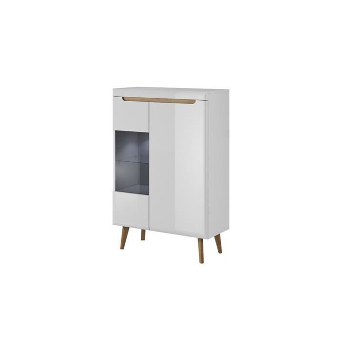 Vitrine NORDY 90 cm - Blanc