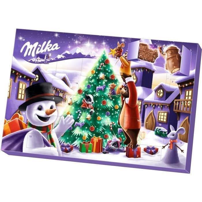MILKA - Calendrier de l'avent - Chocolats de Noël - Boîte de 200 g