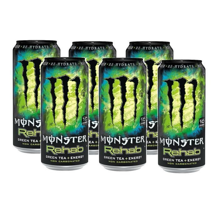 Monster Rehab Green Tea Energy Drink 6 x 0,5l