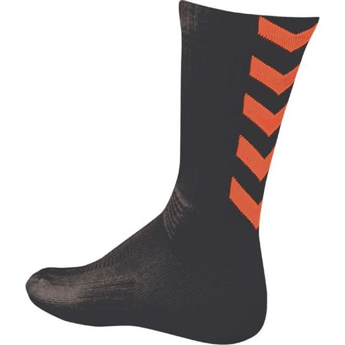 HUMMEL Chaussettes de Handball Authentic Indoor - Homme - Noir et Orange