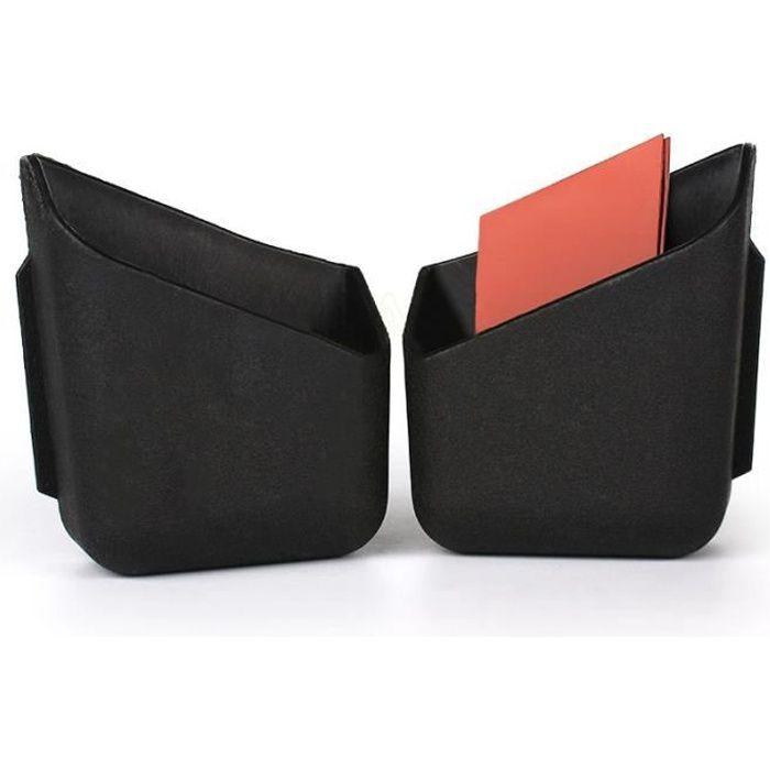 Lot de 2 Vide poche noir pour voiture à coller