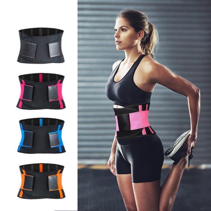 Ceinture gymnastique réglable pour haltérophilie Ceinture Taille Soutien Respirant Exercice Ceinture de sport - Bleu XL