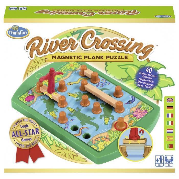 RIVER CROSSING Jeu de casse-tête Ravensburger - 1 joueur et plus - 8 ans et +