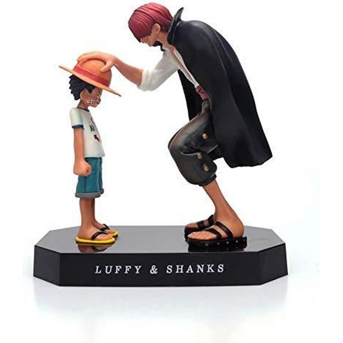 One Piece Luffy And Shanks Figurine d'action Japonaise Classique Anime Personnage Ornement Touchant Anime Scène Modèle Jouet Poupée