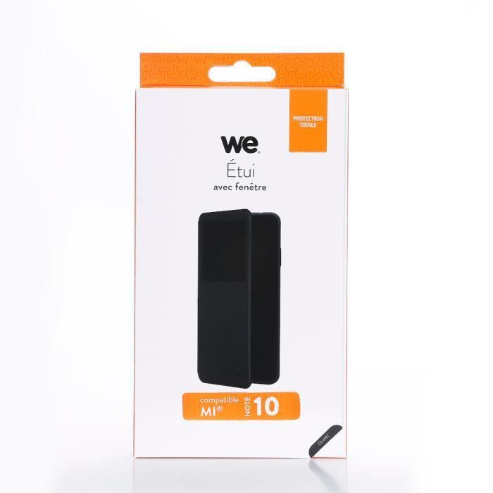 WEEtui de protection WE noir pour smartphone XIAOMI MI NOTE 10 Résistant aux chocs et chûtes. Accès caméra et multi-position.