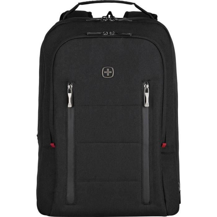 Sac à dos pour ordinateur portable Wenger City Traveler 606490 maxi.: 39,6 cm (15,6) noir 1 pc(s)