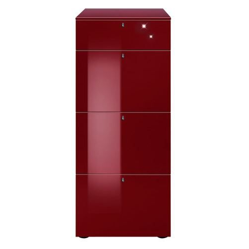 Commode haute solo rouge achat vente commode semainier cdiscount - Commode haute blanche ...