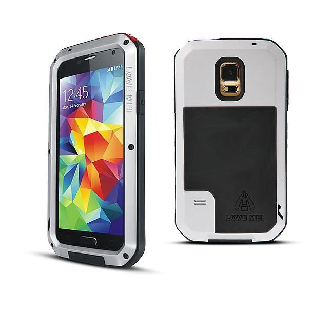 coque anti choc lovemei silver pour galaxy s5 achat. Black Bedroom Furniture Sets. Home Design Ideas