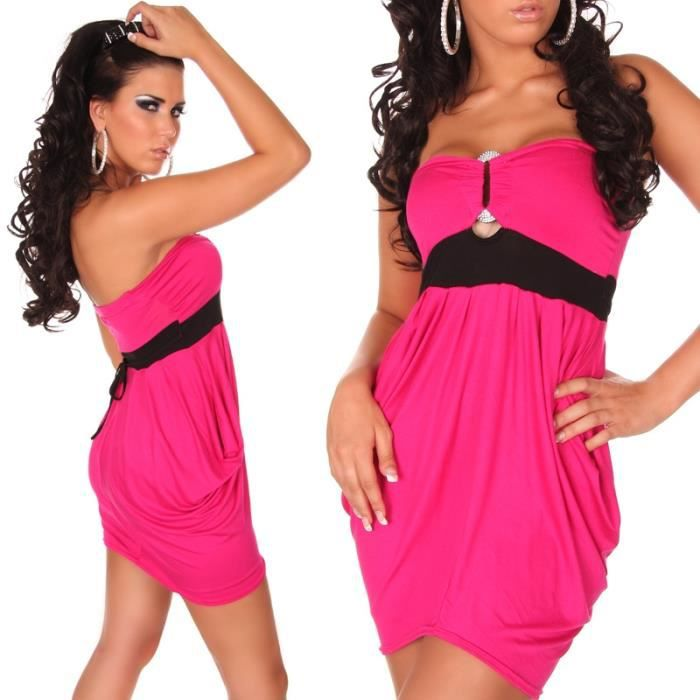 robe sexy courte bustier vas e rose rose achat vente robe sexy 2009986733498 cdiscount. Black Bedroom Furniture Sets. Home Design Ideas