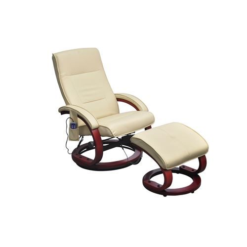 Fauteuil relaxation beige massant chauffant achat vente fauteuil pvc pol - Fauteuil relaxation massant ...
