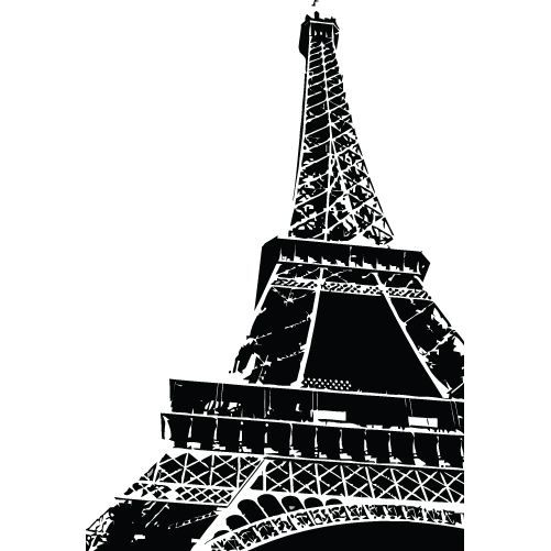sticker monument tour eiffel 17 115x168 cm achat vente stickers cdiscount. Black Bedroom Furniture Sets. Home Design Ideas