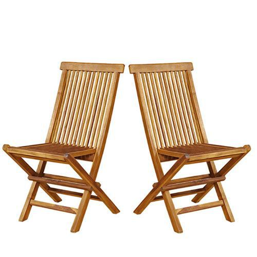 lot de 2 chaises de jardin pliantes en teck achat vente fauteuil jardin lot de 2 chaises de. Black Bedroom Furniture Sets. Home Design Ideas