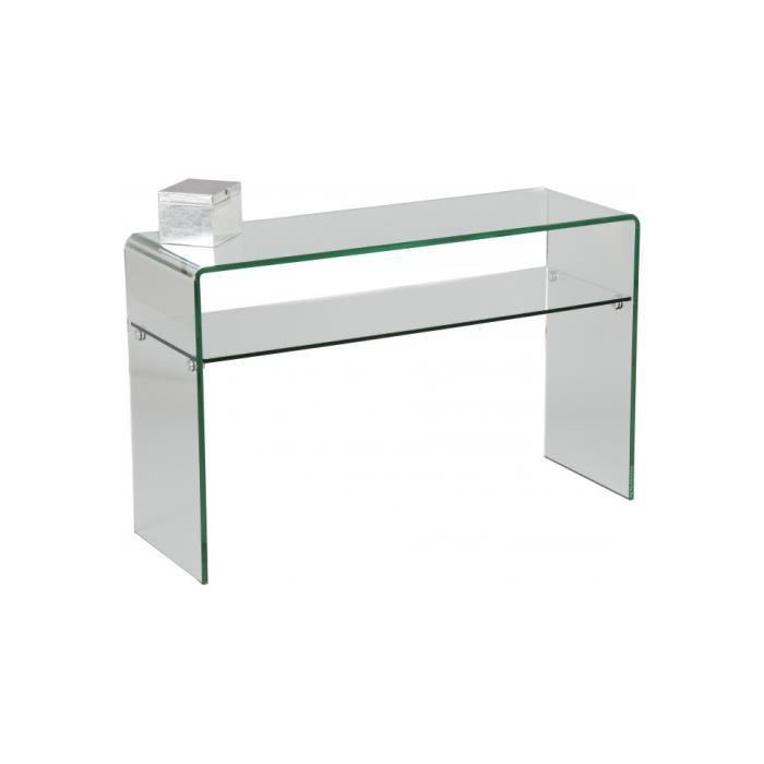 CONSOLE Console verre courbé 1 rayon