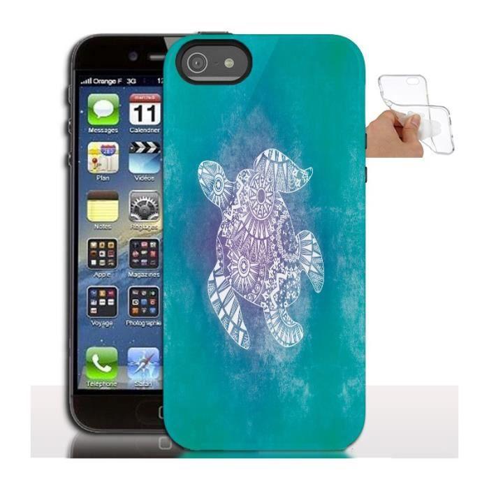 Housse gel design Tortue iPhone 5 - Coque iPhone 5