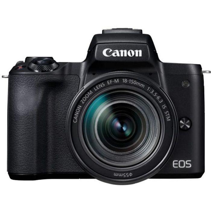 APPAREIL PHOTO HYBRIDE CANON EOS M50 + 18-150 NOIR GARANTI 3 ans