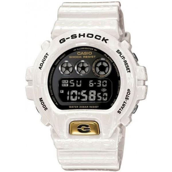montre casio sport g shock dw 6900cr 7er blanche prix pas cher cdiscount. Black Bedroom Furniture Sets. Home Design Ideas