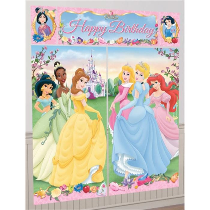 d corations anniversaire disney princesses achat vente. Black Bedroom Furniture Sets. Home Design Ideas