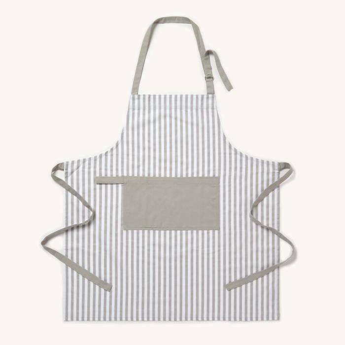 Homescapes Tablier de cuisine Uni Blanc