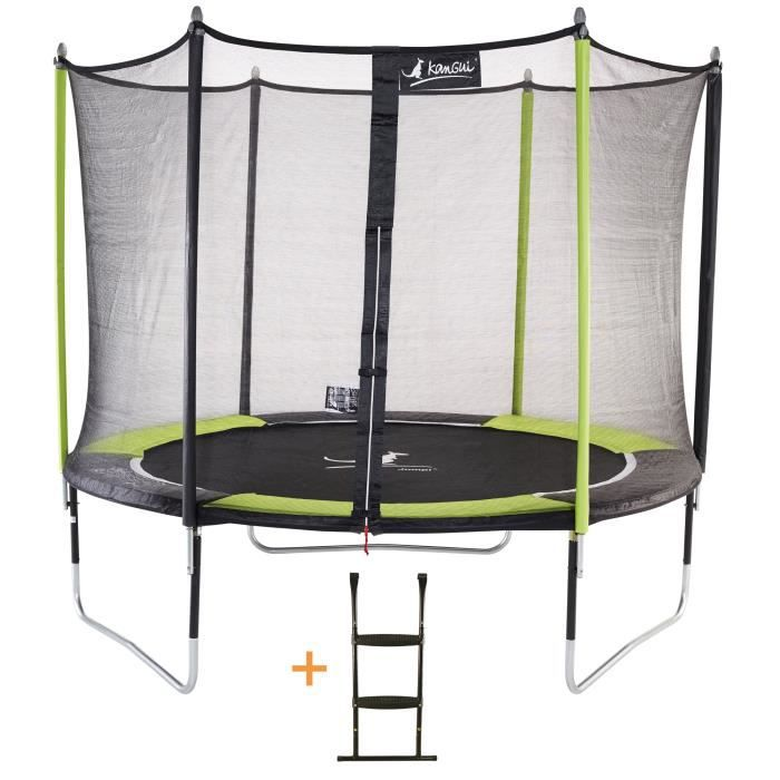 kangui trampoline de jardin 305 cm filet de s curit chelle jumpi pop 300 achat vente. Black Bedroom Furniture Sets. Home Design Ideas