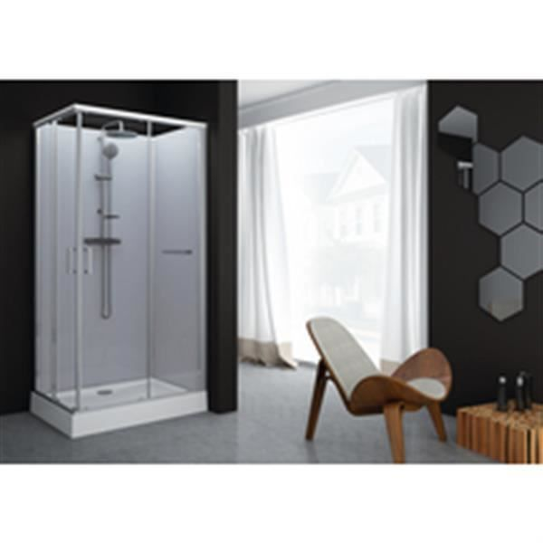 CABINE DE DOUCHE Leda Cabine de douche Kara rectangle 80x120 porte