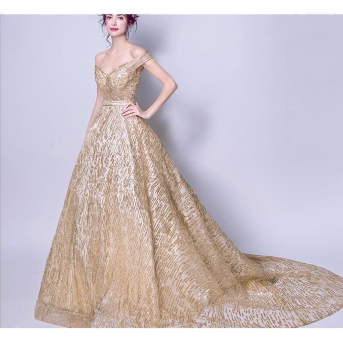 Robe de mariee doree - Achat / Vente pas
