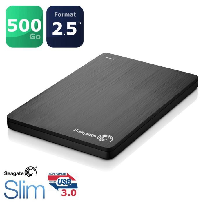 seagate 500 go slim usm disque dur externe 2 5 achat. Black Bedroom Furniture Sets. Home Design Ideas
