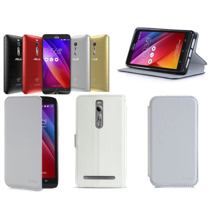 Etui coque asus zenfone 2 5 5 blanc ze551ml ze550ml for Housse zenfone 4