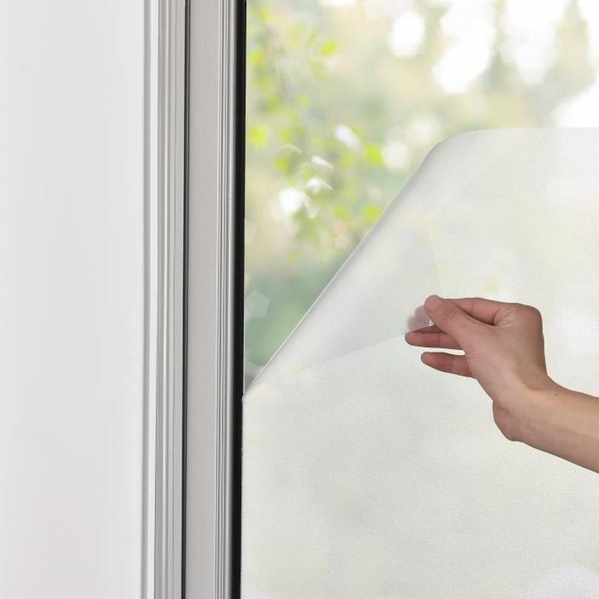 racle f/én/être protection contre les regards casa.pro Film anti-regards verre laiteux autocollant frosted 50cm x 1m incl.