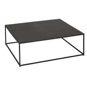 table basse carree metal achat vente pas cher. Black Bedroom Furniture Sets. Home Design Ideas