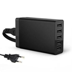 CHARGEUR TÉLÉPHONE EU Plug 40W 5V 8A 5 Chargeur Port USB pour l'iPhon