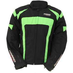 BLOUSON - VESTE Kt020 Blouson moto Spirit Green fluo XXL Noir Et V