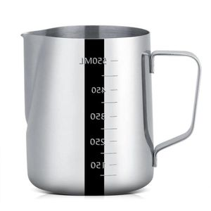 600 ML caf/é Pot /à caf/é Turc pour Une Utilisation de Cuisine G/én/érique Pichet mousseur /à Lait en Acier Inoxydable Parfait pour mousseur /à Lait 350 ML Argent et Argent