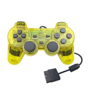 ADAPTATEUR MANETTE Manette de jeu de contrôleur transparente pour PS2