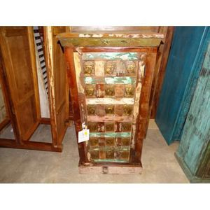 ARMOIRE DE CHAMBRE Armoire étroite ou meuble d'appoint avec têtes de
