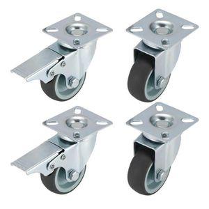 ROUE - ROULETTE SHA Lot de 4 Roulettes Pivotantes Ultra-résistante