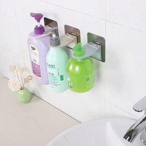 Stainless Steel Bathroom Toilet Wall MountedShampoo Shower Gel Bottle Rack G