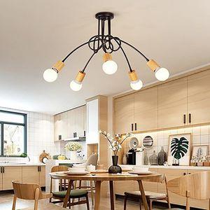 LUSTRE ET SUSPENSION 5 Tête Plafonnier lustre Vintage Led Lampe Industr